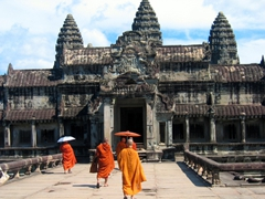 Monks visiting Angkor Wat