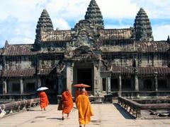 Monks visiting Angkor Wat