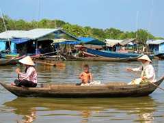 Typical lake transport, Tonle Sap