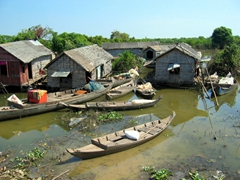 Another view of Tonle Sap floating village