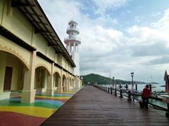 Boardwalk view of Awana Porto Malai Hotel; Langkawi