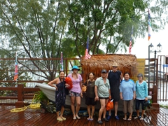 Soaked to the bone after our island hopping trip to Pulau Beras Besah, Tasik Dayang Bunting and Pulau Singa Besar; Langkawi