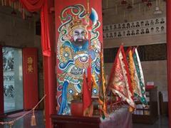 Colorful interior of Hainan Temple; Penang