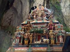 Detail of Lord Murugan Temple inside Batu Caves