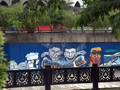 Street graffiti in Kuala Lumpur