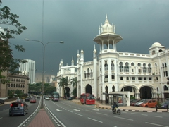 The beautiful Kuala Lumpur Railway Station, built in 1910 in a neo-Moorish design