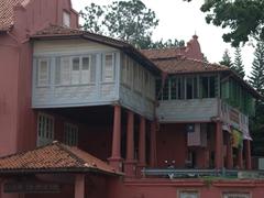 Corner detail of Malacca's Stadthuys