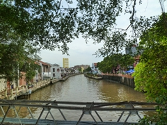View of Malacca from Tan Kim Seng Bridge