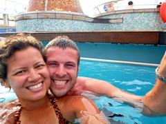 Self portrait in the salt water pool; Costa Victoria