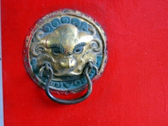 Door knocker at Choijin Lama Monastery; Ulan Bator