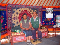 Our hospitable Mongolian hosts