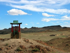 A temple lookout point, near Saikhan Ovoo Wild Ger Camp