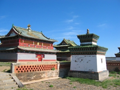View of the three Zuu temples of Erdene Zuu Monastery