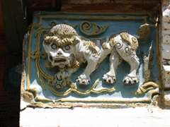 Detail of a lion on a temple at Erdene Zuu Monastery