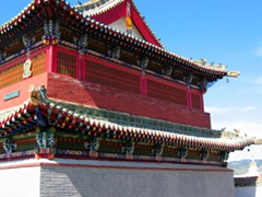 View of the most colorful temple at Erdene Zuu monastery