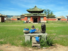 A final view of a temple at Erdene Zuu monastery