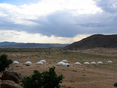 A view of our Hogno Khan Ger Camp