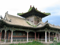 There are 6 temples inside the Winter Palace complex of Bogd Khan. For unknown reasons, the Winter Palace was spared destruction by the Russians, who had no qualms about destroying the Summer Palace