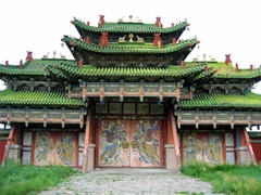 View of the exterior gate to the Winter Palace of Bogd Khan; Ulan Bator