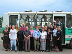 A group photo of our Explore worldwide Mongolia trip members; Ulan Bator