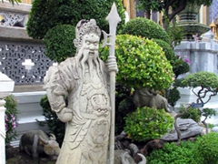 Chinese Warrior Statue at the Grand Palace; Bangkok
