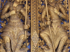 Intricate detail on a door at the Grand Palace; Bangkok