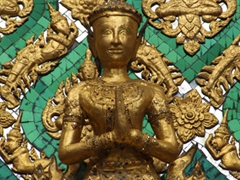 Spend some time admiring the phenomenal detail of the Wat Phra Kaew, the most sacred Buddhist Temple in Thailand
