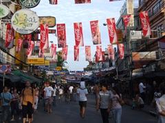 Dusk view of Khaosan Road