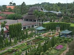 Bird's eye view of the Italian Garden; Nong Nooch