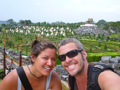Striking a pose at the Nong Nooch Tropical Botanical Garden