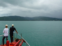 Our tender transports us from the Costa Victoria to Nathan Port, Ko Samui