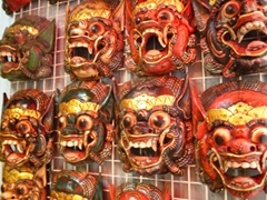 Face masks for sale; Na Muang Waterfall