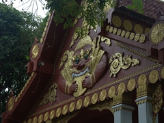 Detail of Wat Khunaram, a typical Buddhist temple on Ko Samui