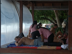 Beach side massages are quite a popular activity; Chaweng Beach