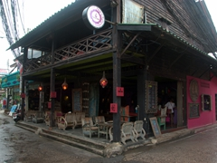 An old Chinese shophouse converted to a bar in Fisherman's Village; Ko Samui