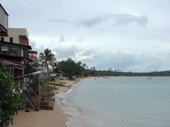 The beach in Fisherman's Village; Ko Samui