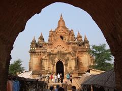 Archway view of Tayokpyay Paya; Bagan