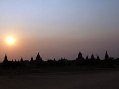 Spectacular sunset vista over ancient Bagan