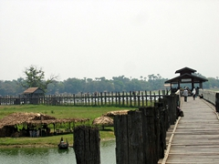 The scenic U Bein footbridge (note: this is the longest teak bridge in the world)