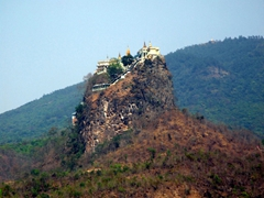 Great view of Mount Popa just before climbing to the top