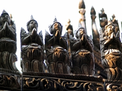 Detail of Shwenandaw monastery's roof carving; Mandalay