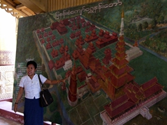 Tin Tin showing us the layout of the Mandalay Royal Palace