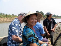 Ann showing off her new straw hat; Mandalay