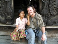 This young girl stole Robby's heart; Bagaya Monastery