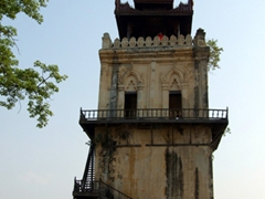"The ""leaning tower"" of Inwa; a 27 meter watch tower"