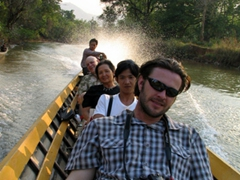 Cruising on an Inle Lake tributary