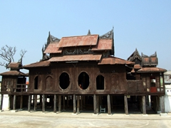 Another view of the wooden monastery near Inle Lake