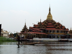 Phaung Daw U Paya, one of the holiest religious sites in the southern area of the Shan states; Inle Lake