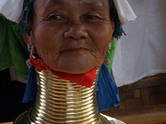 Portrait of a Padaung lady; Indein village, Inle Lake
