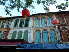 Snapshot of the colorful windows that can be seen in Chinatown